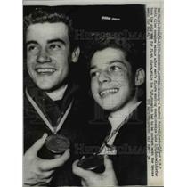 1964 Press Photo Manfred Scnelldorfer and Scott Allen