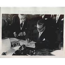 1953 Press Photo Alberto Martin Artajo the Spanish Foreign Minister - KSB04333