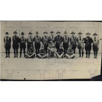 1919 Press Photo Lt T Keane,N Johnson,K Murtha,D Alperin,S Farrell,J Donahue
