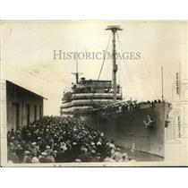 1927 Press Photo Col HC Snyder on bridge of Henderson at San Diego, Calif.