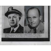 1953 Press Photo D.C. Adm Robert Carney & Gen Alfred Gruenther