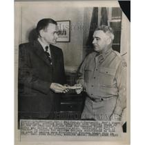 1948 Press Photo Portland, Ore. Maj Gen AG Paxton, Natl Guad & Gov John Hall