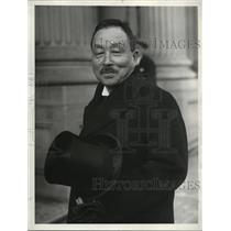1929 Press Photo Admiral T Takarabe chief Japanese delegate in London