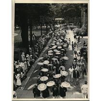 1934 Press Photo Princeton University Alumni parade