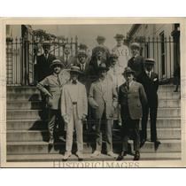 1918 Press Photo Italian editors G Creel, Count M di Cellere,Capt Becione