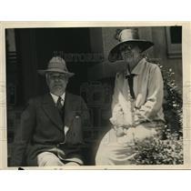 1929 Press Photo Mr & Mrs JW Maitland parents of aviator Lt Lester Maitland
