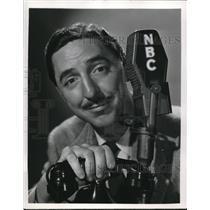 1949 Press Photo Jack McCoy stars in Hollywood Calling NBC Radio show - orp18101