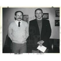 1983 Press Photo Norm Berney Bob Riehm Oregon Wrestling Coach Association Award
