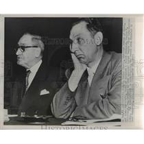 1952 Press Photo John Forbes, Director Bureau of Mines and James Westfield