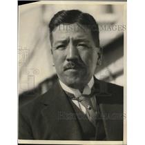 1923 Press Photo Baron Seizo Yabuki Japanese Peer in San Francisco