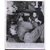 1951 Press Photo National Guard Unit finds missing Leslie Olsen