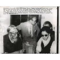 1959 Press Photo Former Tibetan Premier Lu Wang at the news conference