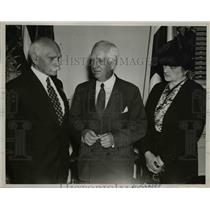 1939 Press Photo General Alexander Osinski, Miss Anna Pazkowski, & Norman Davis