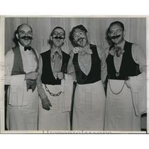 1939 Press Photo Four Bar Flies From Bartlesville Oklahoma Entertain