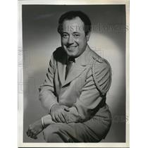 1953 Press Photo Paul Lavalle bandmaster of Band of America on NBC Radio