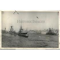 1924 Press Photo British battle fleet ships at anchor in Malta