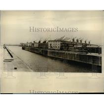 1927 Press Photo General view of Gladstone Dock at Liverpool