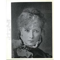 1982 Press Photo Portrait of Sarah Bernhardt French Actress toured U.S.