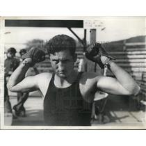 1929 Press Photo Orangeburg NY Argentine boxer Vittorio Campolo at training