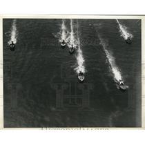 1934 Press Photo Natl Outboard motorboat race in Philadelphia Pa - nes25271