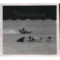 1937 Press Photo Skiff Connor, L Buedel Natl boat race Shrewsbury River