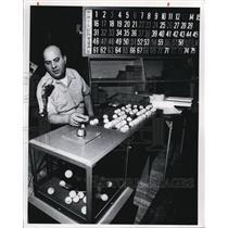 1975 Press Photo Michael Goyko calls for Bingo game