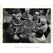 Press Photo The gambling men and women
