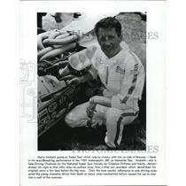 1969 Press Photo Race driver Mario Andretti & Easter Seal car won Indy 500