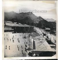 1939 Press Photo Switzerland Villages in Vaudois Alps for skiers - nes25369
