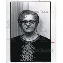 1975 Press Photo Helen M. Perencevic, $2000 lottery winner
