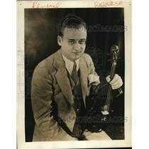 1930 Press Photo Michel Gusikoff violinist on Brazilian American Coffee Matinee