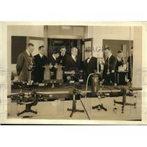 1923 Press Photo Bureau of Standards science instruments tested