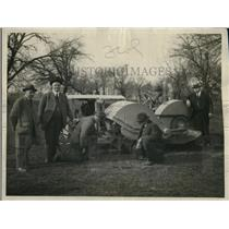 1923 Press Photo Fletcher T. Hamshaw's rotary plow