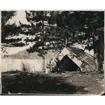 1927 Press Photo Trout fishermans camp at Grand Lake in Ontario Canada