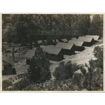 1923 Press Photo Cabins at LA Calif vacation camp for tourists