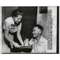 1956 Press Photo Bob Zuppke Former Univ. Illinois Coach Marries Leona P. Ray