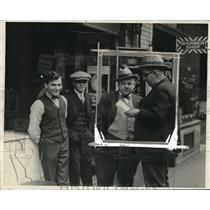 1926 Press Photo Sheriff Bob Buley Questioning Men, Nashville Tennessee