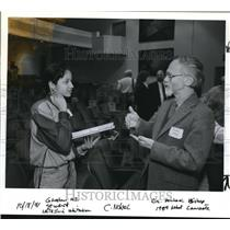 1991 Press Photo Nobel prize winner J Michael Bishop & Natasha Whitaker