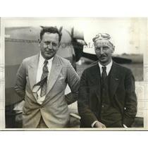 1928 Press Photo Dan Kundle and Sidney Riley