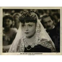 """1949 Press Photo Zarah Leander """"The Life and Loves of Tschaikovsky"""" - orp22727"""