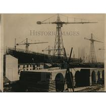 1918 Press Photo Ship building yards in Italy dependent on Allied supplies
