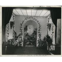 1923 Press Photo Sun Room Exhibit at Nela Plam, Cleveland Ohio