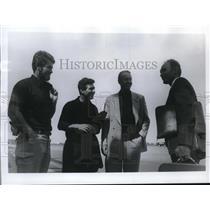 1969 Press Photo Norman Baker, Carlo Mauri, Dr. Santiago, Thor Heyerdahl