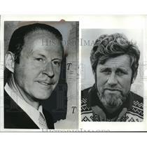 1969 Press Photo Explorers Thor Heyerdahl and Carlo Mauri - nee01496