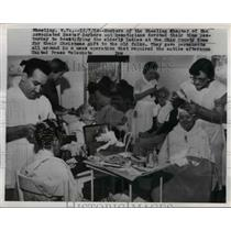 1954 Press Photo Members of Associated Master Barbers and Beauticians, West Va.