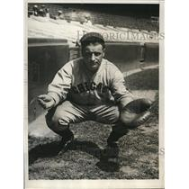 1929 Press Photo John Schulte, catcher for the Chicago Cubs