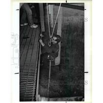 1992 Press Photo Steve Sugar tried the bungee jumping - cva61788