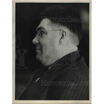 1937 Press Photo Inspector Edwin C. Burns Profile - nee05924