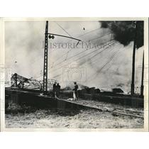 1937 Press Photo French forest fire near Yohoux Landes France - nee04411