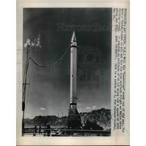 1949 Press Photo U.S. Navy Viking Rocket, New Mexico - nee06036
